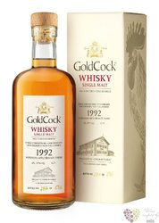 "Gold Cock 1992 "" Moravian apple brandy cask finish "" aged 24 years whisky 59% vol.  0.70 l"