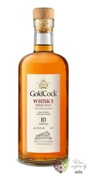 Gold Cock aged 10 years single malt Moravian whisky 49.2% vol.  0.20 l