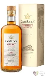 """Gold Cock 2008 """" H&H Madeira batch 2 Angels share """" aged 13 years  Moravian whisky 62.2% vol 0.7"""