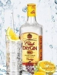 Club dry London gin 37.5% vol.     0.70 l