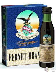 "Branca "" Fernet Original "" herbal liqueur by Fratelli Branca 39% vol. 3x0.02l"
