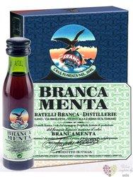 """Branca """" Menta """" original herbal liqueur by Fratelli Branca 28% vol. 3x0.02 l"""
