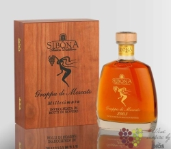 "Grappa di Moscato 2003 "" Millesimata "" by Antica distilleria Sibona 44% vol.0.70 l"