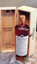 Grappa di Moscato wood box Sibona Antica Distilleria Magnum bottle 42% vol.  1.50 l