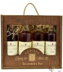 "Box for "" Cognac Grand Breuil collection "" luxury pack of Cognac Aoc    3 x 0.20 l"
