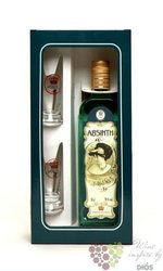 "Absinth "" Absinth set "" 2 glass gift set by Fruko Schulz 70% vol.     0.50 l"