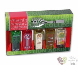 "Ahsinth collection "" L´or "" spoon pack set by L´or special drinks 5x 0.05 l"