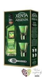"Absinthe set "" Xenta "" premium Italian absinth 70% vol.   0.70 l"