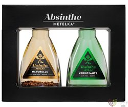 "Absinthe "" Metelka "" Czech absinth collection  2 x 0.20 l"