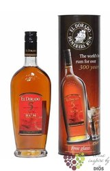 "El Dorado "" Fine cask aged "" aged 5 years Glass pack The rum of Guyana 37.50% vol.   0.70 l"