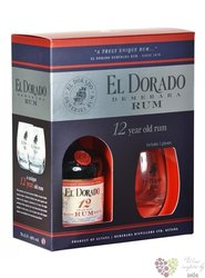 El Dorado 12 years old 2 glass pack rum of Guyana by Demerara 40% vol. 0.70 l