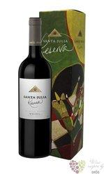 """Malbec reserva """" Santa Julia """" gift box Mendoza Do familia Zuccardi  0.75 l"""