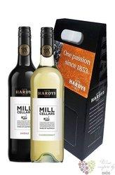 "Coffret "" Mill Cellars "" gift pack of australian wines by Hardy´s    2 x 0.75 l"