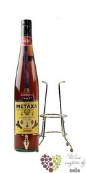 "Metaxa 5 * "" Classic stars "" box & cradle pack Greek wine brandy 38% vol.  3.00l"