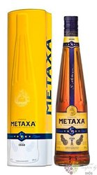 "Metaxa 5 * "" Classic stars "" metal box Greek wine brandy 38% vol.  0.70 l"
