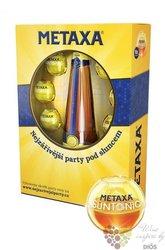 """Metaxa 5 * """" Classic stars """" 6sunball pack Greek wine brandy 38% vol.    0.70 l"""