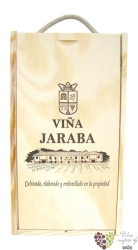 Wood box for 2 bottles 0.75 l from winery Bodegas Pago de la Jaraba