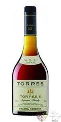 "Brandy de Catalunya "" Solera reserva "" aged 5 years Miguel Torres 38% vol.  1.00 l"