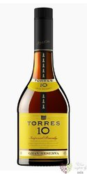 "Brandy de Catalunya "" Grand reserva "" aged 10 years Miguel Torres 38% vol.  0.70 l"
