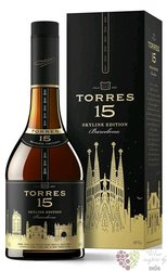 "Brandy de Catalunya "" Reserva privada ed. Barcelona "" aged 15 years Torres 38% vol.  1.00 l"