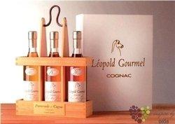 """Léopold Gourmel """" Promenade """" Cognac AOC 40% Vol.   3 x 0.20 l"""