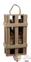 Nature wood box for 2 bottles