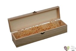 Nature wood box for 1 bottle with fillings