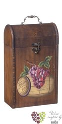 """Wood box """" Rustic """" for 1 bottle with winery motive"""