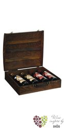 "Wood box "" Rustic "" for 4 bottles"