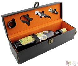Box na láhev z umělé kůže s příslušenstvím