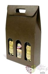 "Paper box "" Marrone "" for 3 bottles"