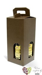 "Paper box "" Marrone "" for 4 bottles"