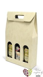 "Paper box "" Sabbia "" for 3 bottles"