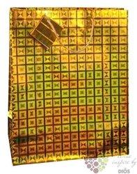 Dárková papírová taška, zlatá