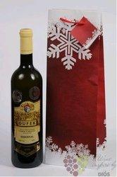 Vánoční papírová taška na 1 láhev, červená