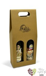 "Paper box "" Natur "" for 2 bottles"