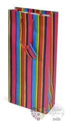 "Paper box "" Red stripes "" for 2 bottles"