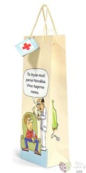 "Paper box "" Cartoon with hospital "" for 1 bottle"