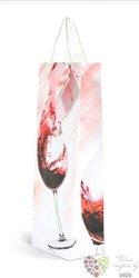 Papírová taška na 1 láhev - červené víno