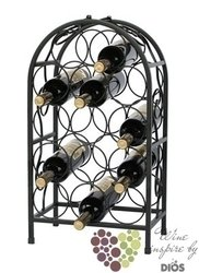 "Metal stand "" Black patine "" for 14 bottles"