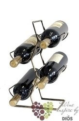 "Metal stand "" Bronze patine "" for 4 bottles"