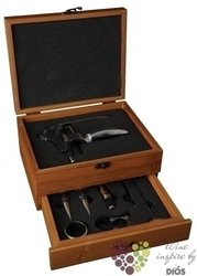 "De Luxe opener in wood box "" Bambus "" with accessory set"