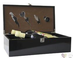 Box na 2 láhve černý lesk 4pomůcky