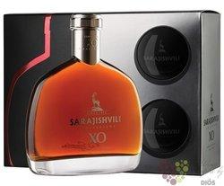 """Sarajishvili """" XO """" gift set exclusive Georgian brandy by David Sarajishvili 40% vol.  0.70 l"""