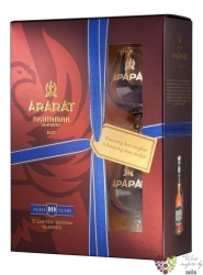 "Ararat "" Akhtamar "" aged 10 years 2glass pack brandy by Yerevan brandy company 40%vol.  0.70 l"