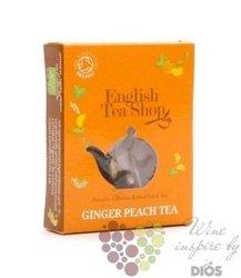 Zázvor a broskev individual pyramid of flavoured tea by English Tea Shop 1 ks