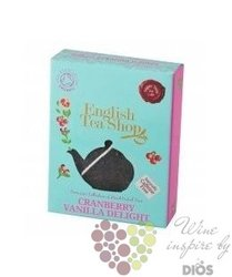 Brusinky, vanilka invidual pyramid of flavoured tea by English Tea Shop 1 ks