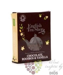 Čokoláda, rooibos a vanilka individual pyramid of flavoured tea by English Tea Shop 1 ks