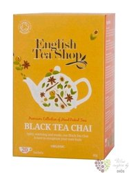 Černý Chai individual sachet of black tea by English Tea Shop 20 ks