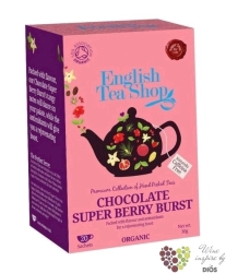 Čokoláda a super ovoce individual sachet of flavoured tea by English Tea Shop 20 ks